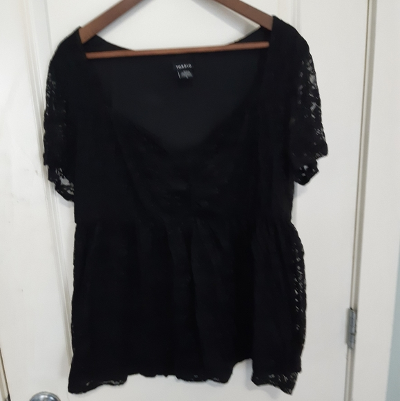 Torrid lace baby doll top